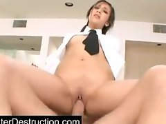 Young daughter abused in her throat and pussy