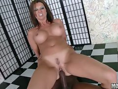 Mature whore Raquel Devine riding a hard dick like a true pro
