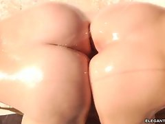 Alluring Gracie Glam & Alexis Texas rub ass cheeks