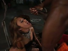 Sexy Asian babe Kaylani Lei fucking by a black dick and mouth creamed