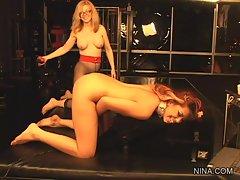 Scorching Nina Hartley whips naughty Satine Phoenix