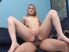 Juicy Kayla Marie rides this dick up her sloppy slit