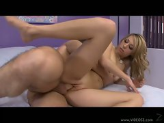 Allyssa Hall gets her hot wet pussy filled by a monster cock