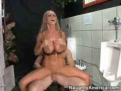 Hot Nikki Benz bounces her cunt on a big thick hard cock over and over.