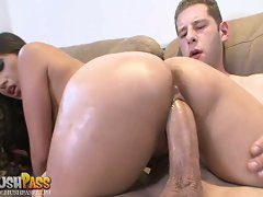 Alexis Breeze explodes in orgasm after pounding her pussy on a hard dick