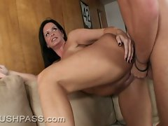 Bending over for a doggystyle banging, Maya Divine is fucked solidly