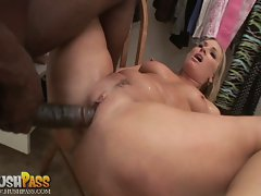 Flower Tucci is fucked so deep her big butt and tight pussy spread open