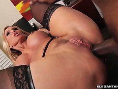Amber Lynn anal sex in the office on the table