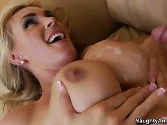 Tanya Tate filled with cum on face and boobs