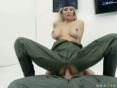 Fucking whore Julia Ann is having the perfect fuck she always wanted and craved