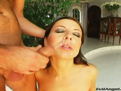 Maria Bellucci love the sperm shots on her face