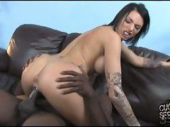 Juelz Ventura cock slapped in her wet pussy