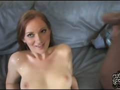 Cristine Michaels filled with cum from other guy