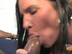Kendra Secrets lusty mom sucking a big black dick
