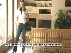 Mandie tender adorable woman posing