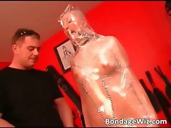 Hot blonde gets tied and involved part4