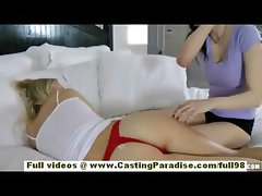 Natalia Rogue and Aiden Ashley blonde and brunette lesbian chicks sleeping and kissing