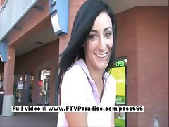 Shanel from ftv babes petite babe public posing and teasing