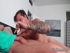 Play Boy getting pounded by Roommate part1