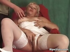Incredible solo action with horny mature part6