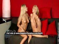 Alison and Celine lusty lesbo girls fingering