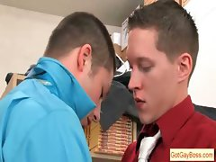 Dude gets dick suck from gay boss part2