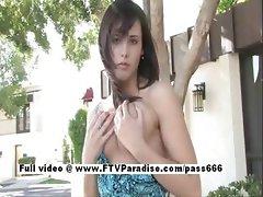 Zeba from ftv babes stunning brunette babe posing outdoor