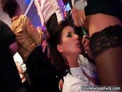 Hot drunk brunette is jerking cock part5