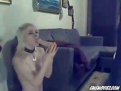 Swedish amateur Bella spanked