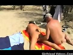 Beach Wife Pussy & Ass Play