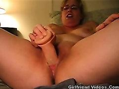 Chubby GF Dildos Pussy Hard