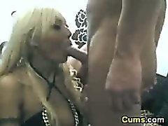 Blonde GF deepthroats