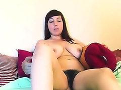Hot and hairy masturbation