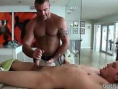 Deep anal penetrating massage 6