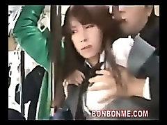 teen hard fucked by geek on bus