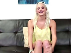 Blonde Florida stripper on the CastingCouchX