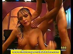 Watersports slut ass fuck suck and golden shower
