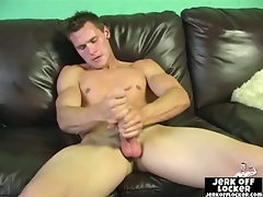 Naughty guy feels horny and jerks off