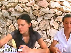 Extreme fisting lesson with two women