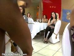 Stripper Provides Cumshot To Slut On Her Knees