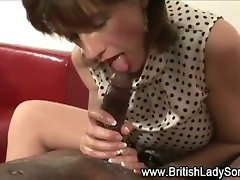 Hardcore lingerie slut gets fucked in interracial session