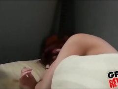 Girlfriend makes him cum with her hand