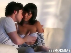 Brunette beauty Shazia Sahari pussy screwed and jizzed on
