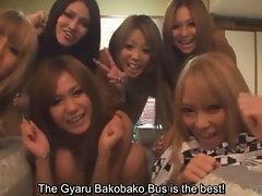 Subtitled tan Japan gyaru group talk about first times
