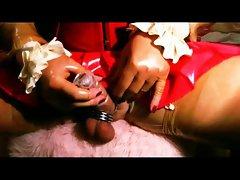 kinky transvestit condom milking