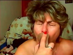 ALLURE suck big dildo webcam 2