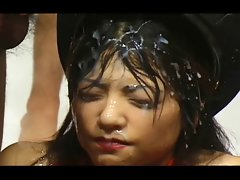 Asian Bukkake - 87 Cumshots on One face - Japanese Festival
