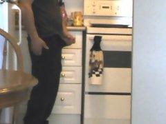 caught in kitchen