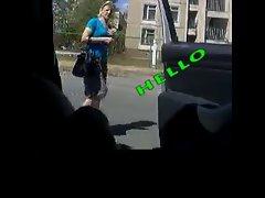 Rus Public Masturb CAR Flash  Watching GIRLS 53 - NV