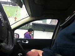 Flashing in the car 13